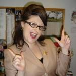 Jaimie as Sarah Palin on the Late Show